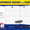 Address-Book-with-Alphabetical-Tabs kdp interior template