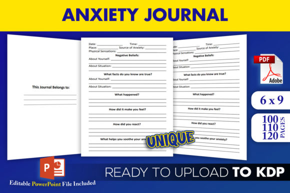 Anxiety Journal KDP Interior