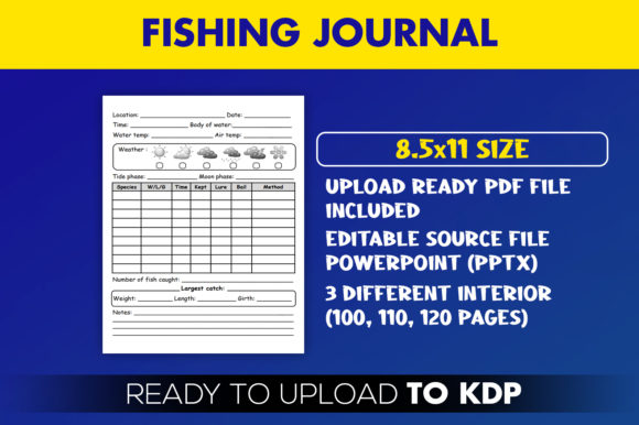 Fishing Journal Fish Record KDP Interior