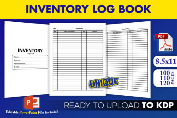 Inventory Logbook Tracker KDP Interior