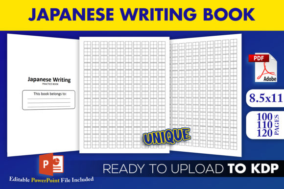 Japanese-Writing-Practice kdp interior template