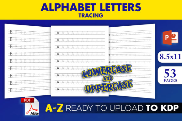 KDP Interior Alphabet Letters Tracing