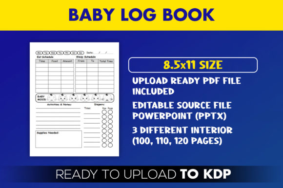 Baby-Log-Book kdp interior template