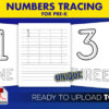 Numbers-Tracing 8.5x11 printable sheets kdp interior template