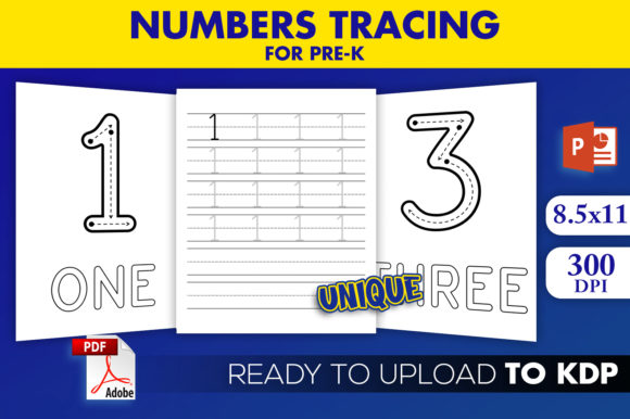 KDP Interior Practice Numbers Tracing