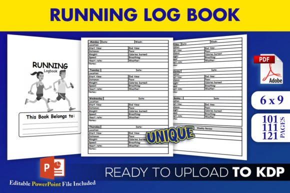 Running Log Book Jogging KDP Interior