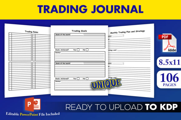 Trading Logbook Trade Journal KDP Interior