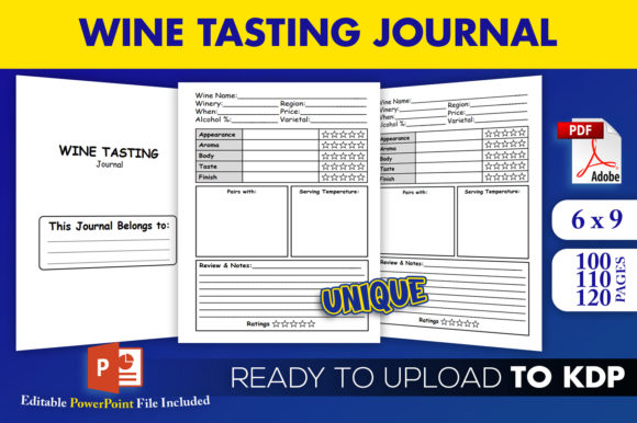 Wine Tasting Logbook Wine Journal KDP Interior