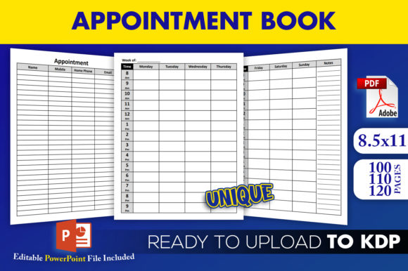 Appointment Planner Organizer KDP Interior Template Ready to Upload