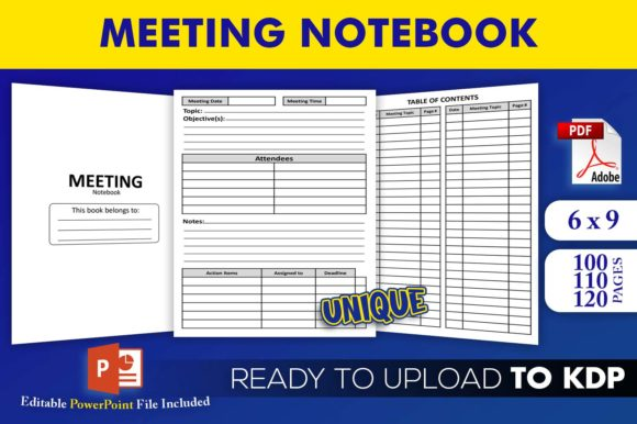 Meeting Notebook | KDP Interior Editable PowerPoint Template