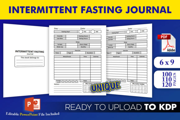 Intermittent Fasting Journal | KDP Interior Editable PowerPoint Template