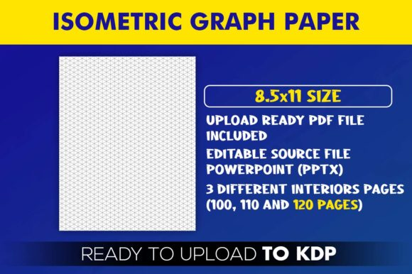 Isometric Graph Paper Notebook | KDP Interior Editable PowerPoint Template