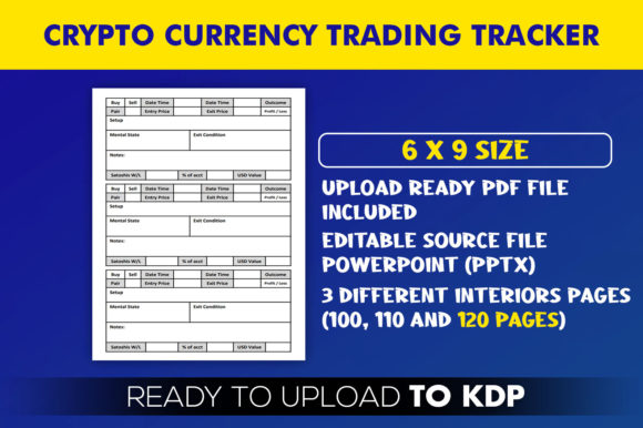 Crypto currency Trading Tracker | KDP Interior Editable PowerPoint Template