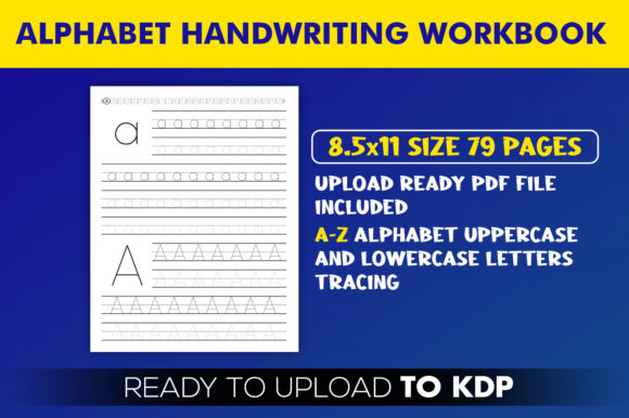 Alphabet Handwriting Letters Tracing Workbook KDP Interior Template