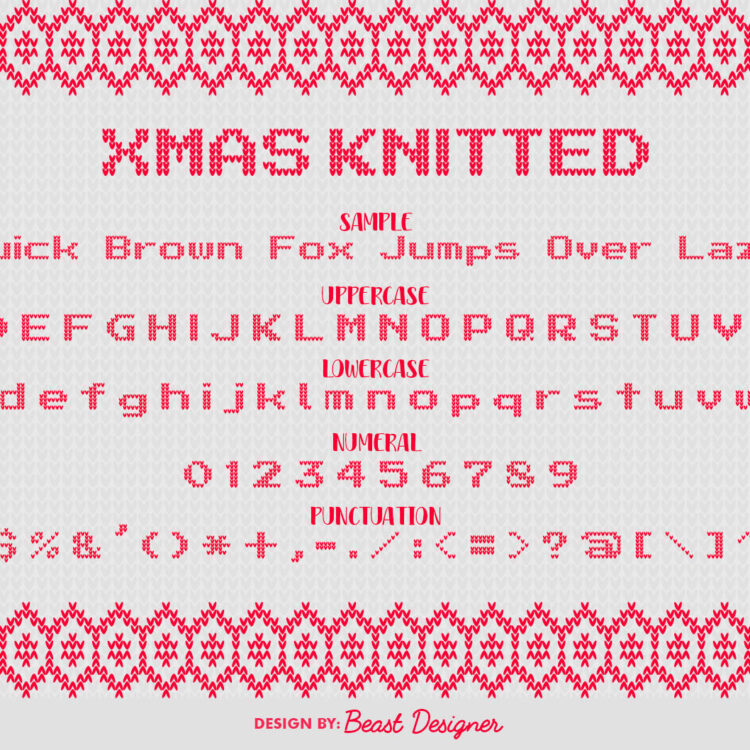Xmas Knitted Font by Beast Designer
