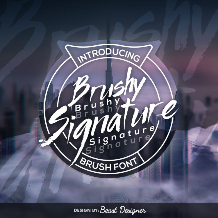 Brushy Signature Font by Beast Designer