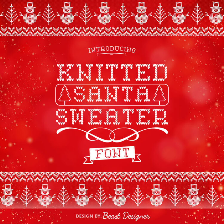 Knitted Santa Sweater Font by Beast Designer