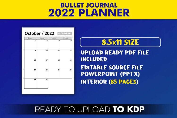 2022 Planner Bullet Journal | KDP Interior Editable PowerPoint Template