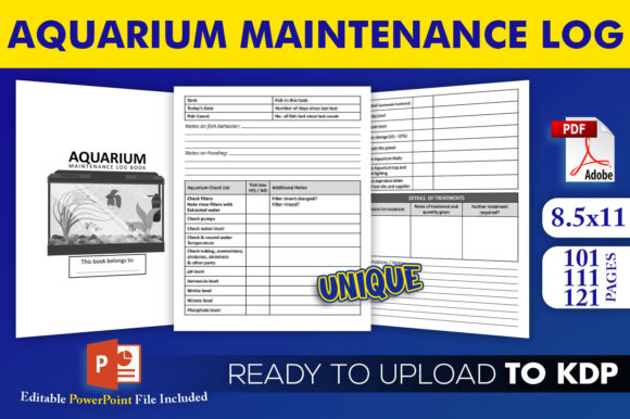 Aquarium Maintenance Log | KDP Interior Editable PowerPoint Template