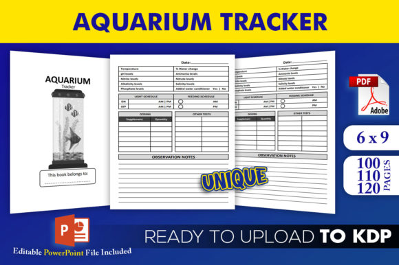 Aquarium Tracker | KDP Interior Editable PowerPoint Template