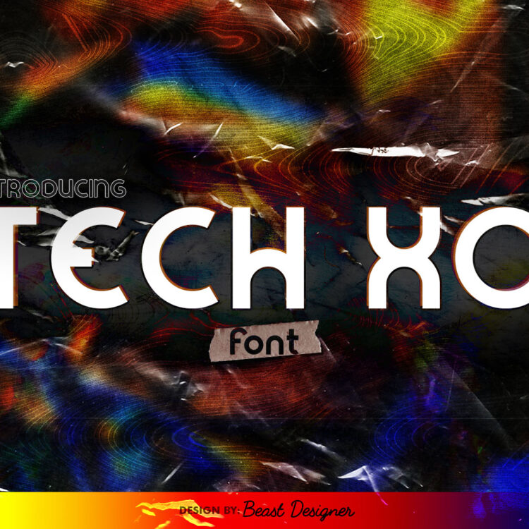 Tech XO Sci-fi Future Space Font by Beast Designer