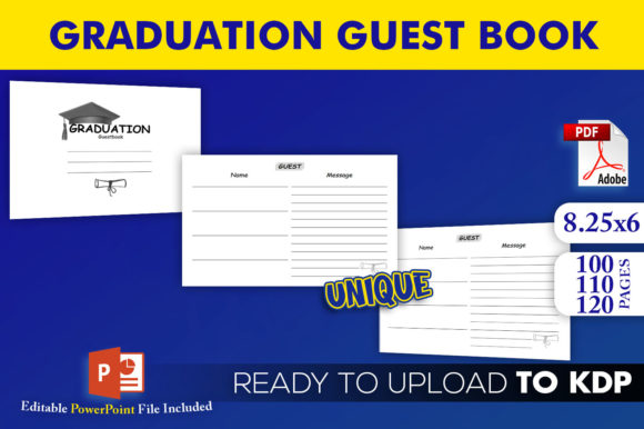 Graduation Guest Book | KDP Interior Editable PowerPoint Template