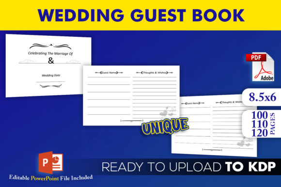Wedding Guest Book | KDP Interior Editable PowerPoint Template