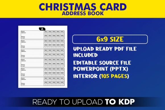 Christmas Card Address Book | KDP Interior Editable PowerPoint Template