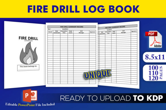 Fire Drill Register Log Book | KDP Interior Editable PowerPoint Template