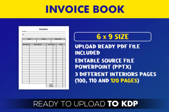 Invoice Book | KDP Interior Editable PowerPoint Template