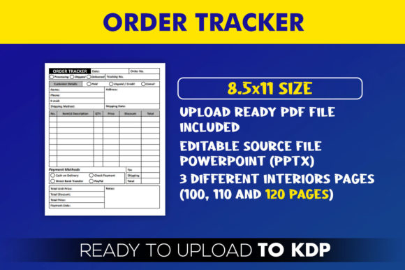 Order Tracker | KDP Interior Editable PowerPoint Template