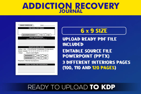 Addiction Recovery Journal | KDP Interior Editable PowerPoint Template