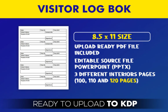 Visitor Logbook   KDP Interior Editable PowerPoint Template