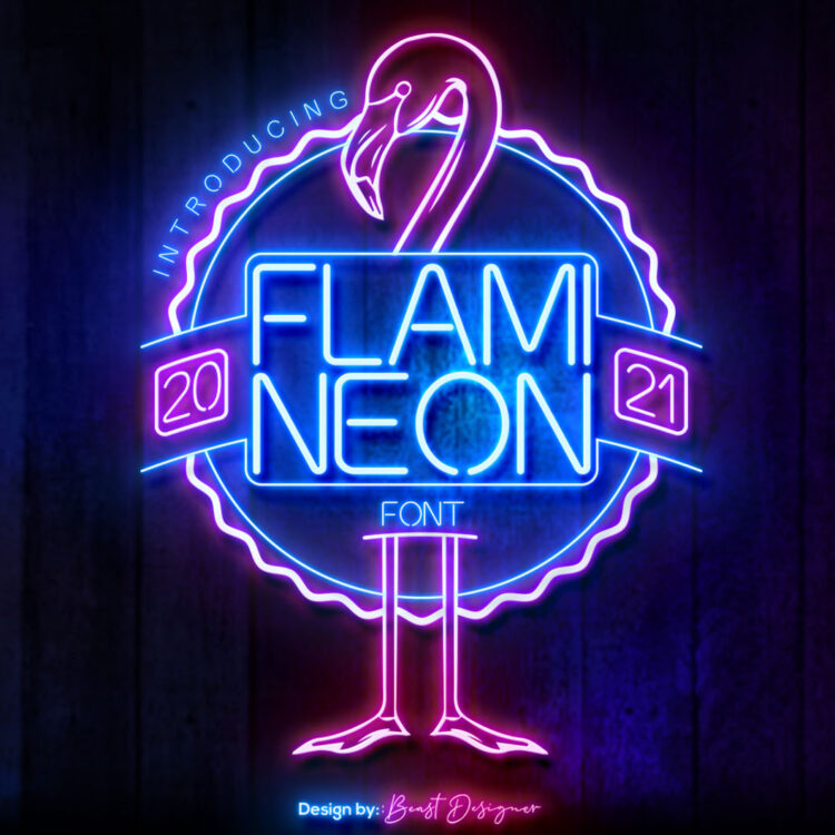 Flami Neon Font by Beast Designer
